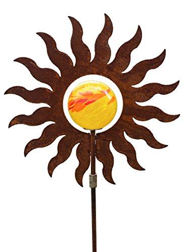 Blümelhuber Gartenstecker Sonne 145cm Metall Rost Gartendeko Edelrost Groß