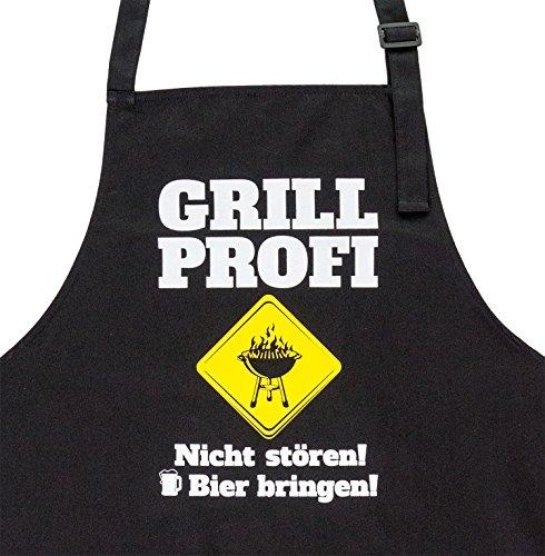 GRILLHIT X Grillschürze Grill Profi Nicht stören Bier bringen Geschenk für Männer