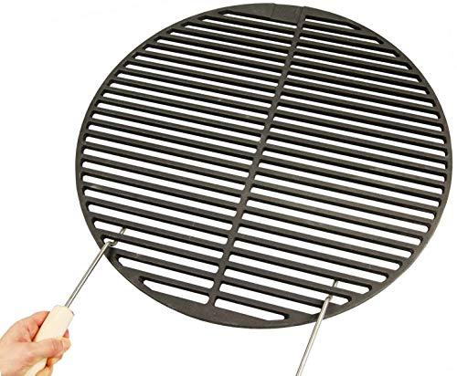 AKTIONA Gusseisen runde  eckige Grillroste viele Größen  Griffe Grillclub Grill für Weber Gasgrill Holzkohle Ø 545 cm  2 Griffe passend für 57er Kugelgrills