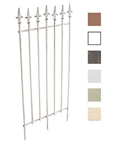 CLP Metall-Rankgitter ELISA I Größe 100 x 50 cm Stabstärke 07 cm I Rankhilfe für Kletterpflanzen I In verschiedenen Farben erhältlich Antik Weiß