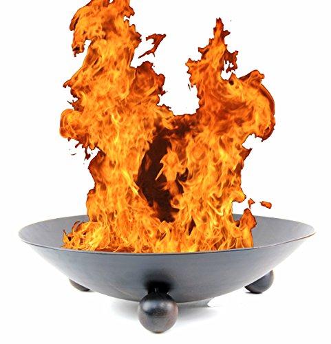 Nick and Ben Feuer-Schale 57cm schwarz Feuer-Korb Pflanz-Schale Terrassen-Ofen Garten-Kamin Feuer-Stelle Grill-Feuer
