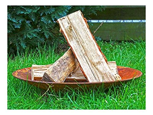 Nick and Ben Metall Feuer-Schale 47cm Designer Rusty-Style Pflanz-Schale Terrassen-Ofen Garten-Kamin Feuer-Korb Grill-Feuer Edelrost