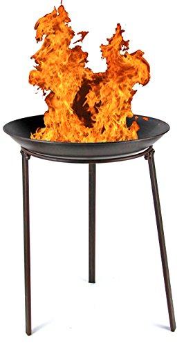 Unbekannt Gartendekoschale 48cm Feuer-Korb Garten-Kamin Pflanz-Schale Terrassen-Ofen Feuer-Stelle Feuer-Schale Terrassen-Feuer Grill BBQ Kamin Deko-Schale