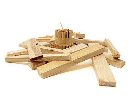 Kamin- Ofen- und Grill-Anzünder I Kombi-Set I 50x ökologischer Feueranzünder handgefertigt  ca 5 kg Anfeuerholz