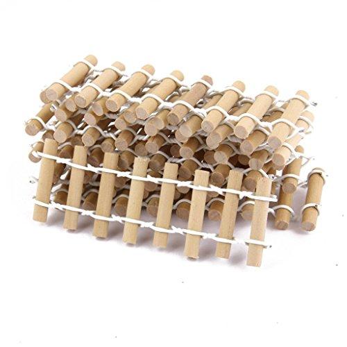 Genonaute Mini Garden Deko-Bonsai Puppenhaus Zylinder Zaun Holz Farbe