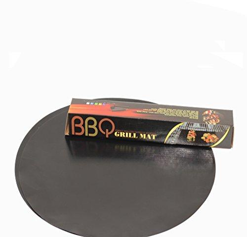 OSVINO 5 Stücke Grillmatte Unterlage BBQ Teflon antihaft Camping für Balkon Grill Backofen rund Durchmesser 40cm