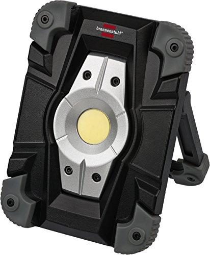 Brennenstuhl Akku LED ArbeitsstrahlerLED Strahler Akku Außenleuchte 10 Watt Baustrahler IP54 Fluter Tageslicht schwarzgrau