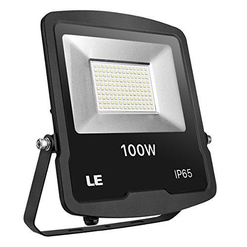 LE LED Strahler 100W 8000lm superhell Flutlicht IP65 wasserdicht LED Fluter 5000K Kaltweiß Außenstrahler geeignet für Garten Garage Hotel Hof usw