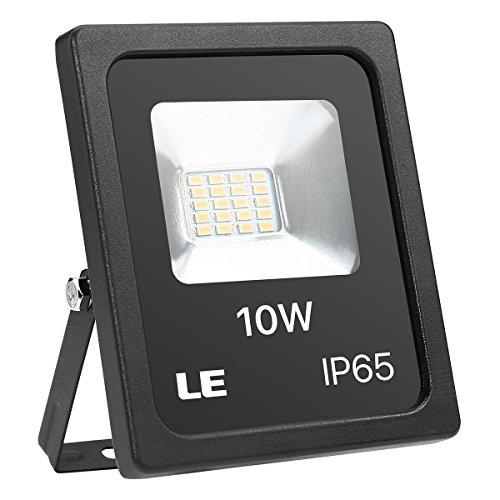 LE LED Strahler 10W 800lm superhell Flutlicht IP65 wasserdicht LED Fluter 3000K Warmweiß Außenstrahler ersetzt 100W Halogenstrahler geeignet für Garten Garage Hotel Hof usw