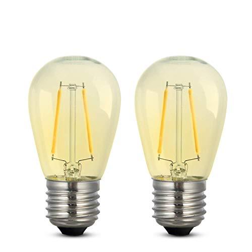 Dimmbar LED-Glühbirne iEGrow Edison Stil Retro Glühbirne Warmweiß 2700K 2W ST45 LED Glühfaden Glühbirne E27 Basis Lampe für Restaurant Haus Leseraum 2er-Pack