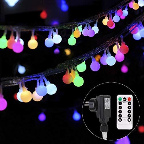 Lichterkette strombetrieben B-right 100 LED Globe Lichterkette Lichterkette bunt Innen- Außen Lichterkette glühbirne FernbedienungWeihnachtsbeleuchtung für Weihnachten Hochzeit Party Weihnachtsbaum