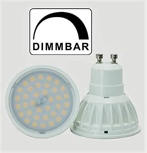 65 Watt SMD LED Spot GU10 DIMMBAR Retrofit Warmweiß 2700K 120° Ausstrahlwinkel 600 Lumen entspricht ~ 60 Watt Halogenspot