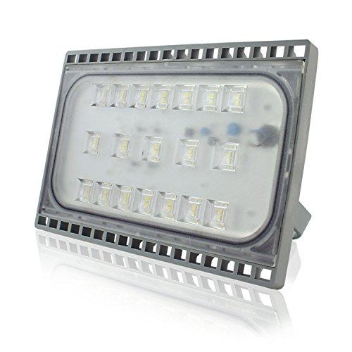 YOSION Ultraslim 50W LED Strahler Fluter Kaltweiß IP65 Wasserdicht LED Flutlicht LED Scheinwerfer Innen und Außenbereich LED Flut Licht
