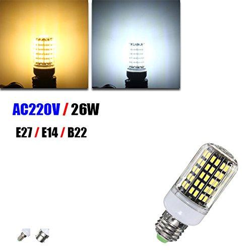 Bazaar E27 E14 B22 26W 108 SMD 5733 2500LM LED Abdeckung Mais Licht Lampen Birnen 220V AC