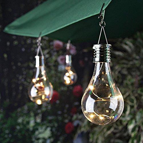 Solar Outdoor Lichterkette Clode Wasserdichte Solar drehbare Outdoor Garten Camping Hanging LED Licht Lampe Birne Clear
