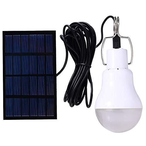Solarbetriebene Lampe Led Birne leuchtet mit Lichtsteuerung Auto Power an  aus für Camp Tent Night 130LM Pack of 1