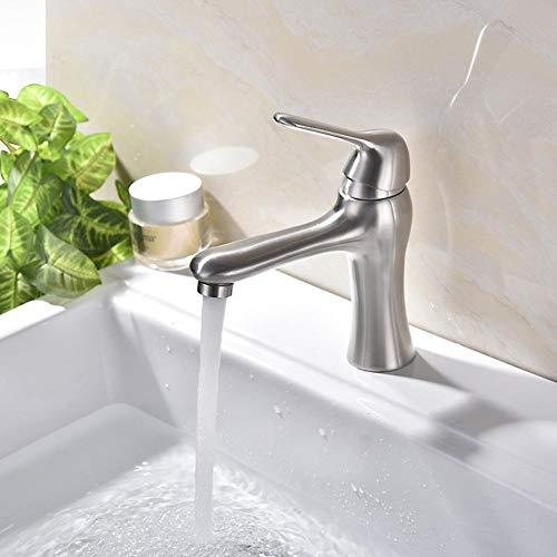Lxj Wasserhahn Waschtisch heißen und kalten Wasserhahn Edelstahl Wasserhahn Lack Spray Farbe Gesicht Platte einloch Wasserhahn