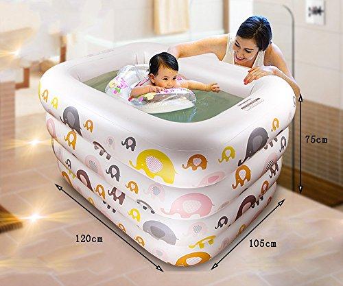 GJ- Kind-Spiel-Swimmingpool-Schwimmen-Wanne Neugeborene Wanne Umweltschutz PVC-Material Baby-aufblasbarer Swimmingpool  größe  12010575cm
