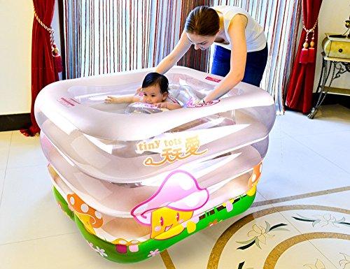 GJ- Kind-Spiel-Swimmingpool-Schwimmen-Wanne Neugeborene Wanne Umweltschutz PVC-Material Baby-aufblasbarer Swimmingpool  größe  14010575cm