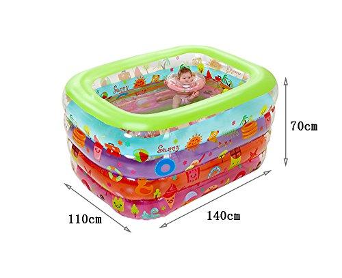 GJ- Umweltschutz PVC-Baby-Swimmingpool aufblasbare Baby-Säuglingsspiel-Swimmingpool-Schwimmen-Wanne  größe  14011070cm