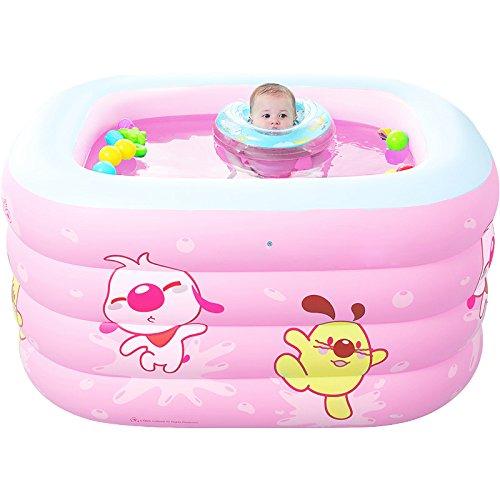 LZTET Faltende Wanne-aufblasbarer Baby-Swimmingpool-Neugeborenes Hauptdämmung-Innenübergroßer PlanschbeckenBasicPackage