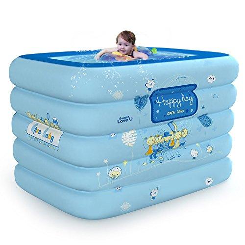 LZTET Faltende Wanne-aufblasbarer Baby-Swimmingpool-Neugeborenes Hauptdämmung-Innenübergroßer PlanschbeckenDeluxePackage