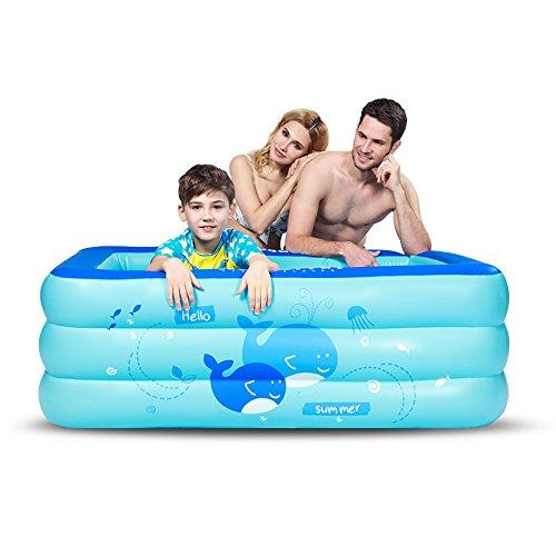 LZTET Faltende Wanne-aufblasbarer Baby-Swimmingpool-Neugeborenes Hauptdämmung-Innenübergroßer PlanschbeckenExtraLargeManualInflatable