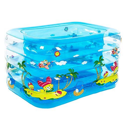 LZTET Faltende Wanne-aufblasbarer Baby-Swimmingpool-Planschbecken-Neugeborene HauptdämpfungsbadewanneBasicPackage