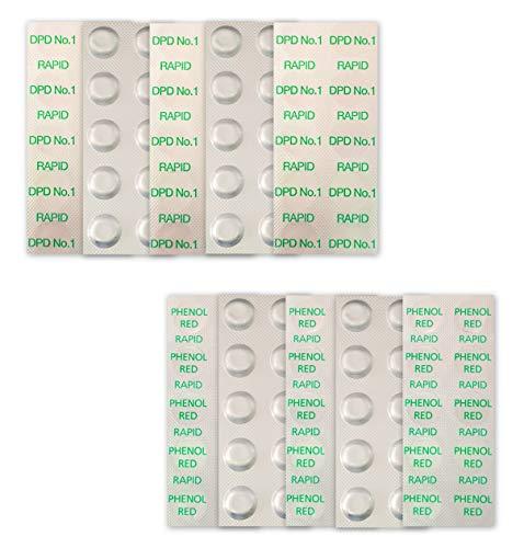 well2wellness 100 Pool Testtabletten Chlor und pH-Wert Bestimmung - 2 x 50 Stück