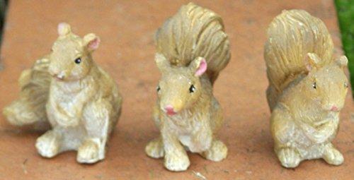 Fiddlehead Garten-Eichhörnchen aus der Kollektion Fairy 3 Stück