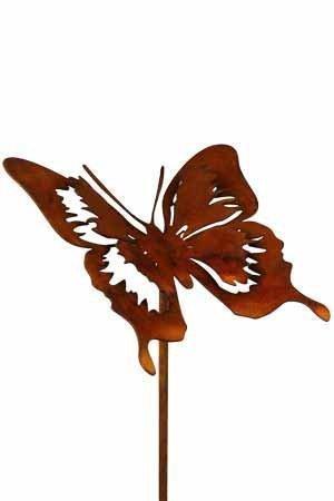 Rost Tier Schmetterling Filigran 52 cm Stecker Deko Dekoration Edelrost Garten