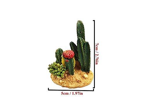 JwlqAy Draußen drinnen Mini Harz Kaktus Miniatur Fee Garten Puppenhaus Dekoration Statuen Micro Landschaft DIY Hause Terrasse Dekoration Blumentöpfe Bonsai Handwerk grün