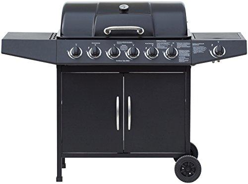 El Fuego Gasgrill Dayton 6 Plus 1 schwarz 54 x 133 x 97 cm AY4601