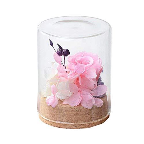 Tumao Konservierte Rose Pink Die Ewige Rosa Rose Perfekt als Geschenk für die Hochzeit Geburtstag Festival Weihnachten Jubiläum Valentinstag - ECHTE Rosen