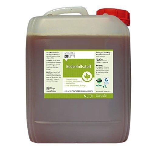EmAktiv Effektive Mikroorganismen Hilfsstoff  Universal Bio-Bodenhilfstoff für Boden Pflanzen  Algenreduktion Verbesserung der Wasserqualität in Teich und Aquarium  5000ml