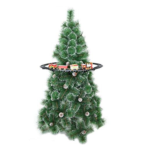 Shatchi Weihnachten Zug Set-Around der Baum Weihnachts Home Dekoration Festliches Licht-Sound Eine Größe