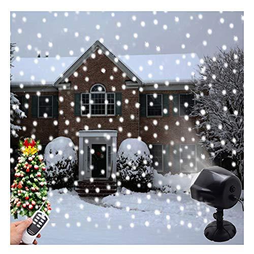Weihnachten Schnee Projektor Lichter Indoor Outdoor Halloween Dekoration LED Schnee fallende Lichter Fernbedienung Landschaft rotierenden Licht Schneeflocke Projektor Lampe