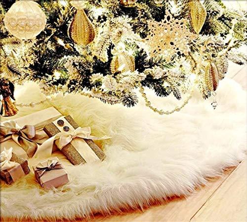 LCXYYY Weihnachtsbaumdecke Weihnachtsbaum Weißflocke Weihnachtsdeko Verkleidet den Baumständer Herrlicher und eleganter Weißer Baum-Rock für Weihnachtsbaum Dekoration Decke Baumdecke