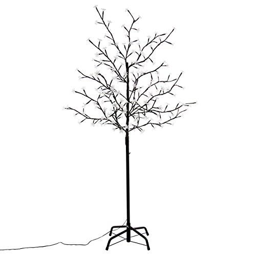 Nipach GmbH 200 LED Baum mit Blüten Blütenbaum Lichterbaum weiß 150 cm hoch Trafo IP44 Weihnachtsbeleuchtung Weihnachtsdeko Lichterdeko Xmas