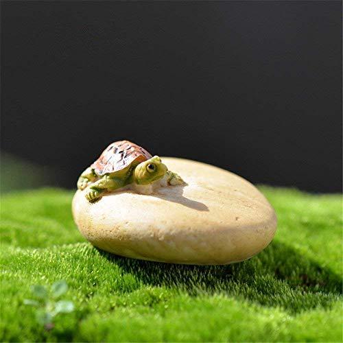 Danmu Art Mini Kunstharz Schildkröte und Rock Miniatur House Fairy Garden Micro Landschaft Home Garten Dekoration Blumentöpfe Bonsai Craft Decor