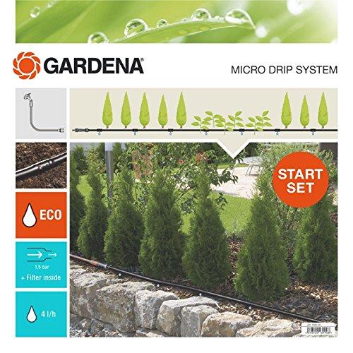 GARDENA Start Set Pflanzreihen M Micro-Drip-Gartenbewässerungssystem zur schonenden wassersparenden Bewässerung von Reihenpflanzungen 13011-20
