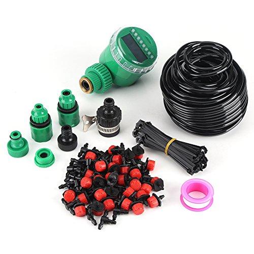 Zunate BewässerungssystemAuto Bewässerungssystem DIY verstellbar Bewässerung Kit Micro-Drip-Systemautomatische Bewässerung Gartenschlauch Sprinkler mit Timer geringem Wasserverbrauch25m