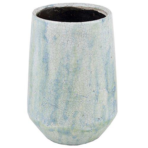 Dadeldo Topf Classy Vintage Design Keramik Mint Blumentopf Dekoration 23x13x13cm