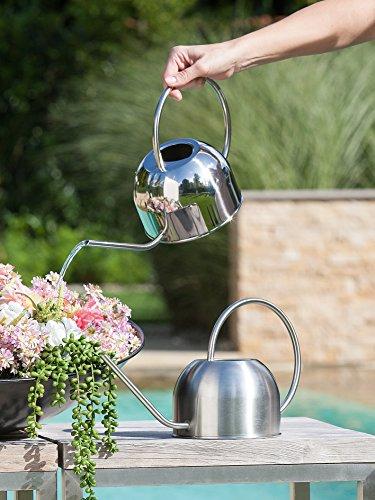 1 x Gießkanne Edelstahl 13 Liter Höhe 19 cm Gießen f Blumen matt Stückpreis