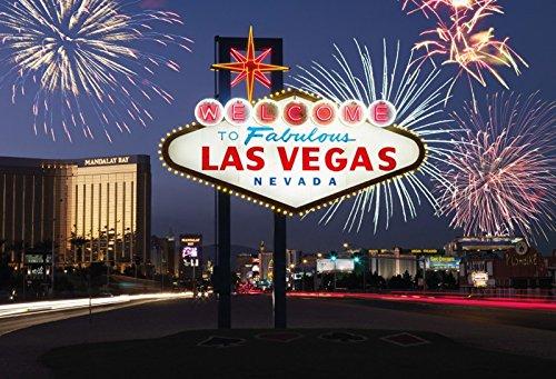 Schatzmix Welcome to Las Vegas querformat Metal Sign deko Sign Garten Blech