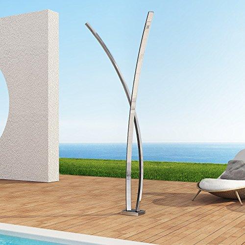 Edelstahl Außendusche  Dusche für Garten Preludio E