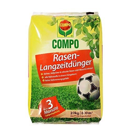COMPO Rasen-Langzeitdünger 3 Monate Langzeitwirkung Feingranulat 20 kg 800 m²