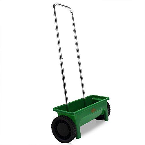 Streuwagen  12L  50cm Streubreite  praktische Abstellfüße - Saatgutstreuer Düngerstreuer für Salz Dünger Rasen Split Saatgut Streuer