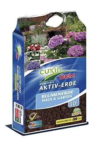 CUXIN DCM AKTIV-ERDE Blumenerde für Haus Garten 20 Ltr - incl 100 Tage Dünger