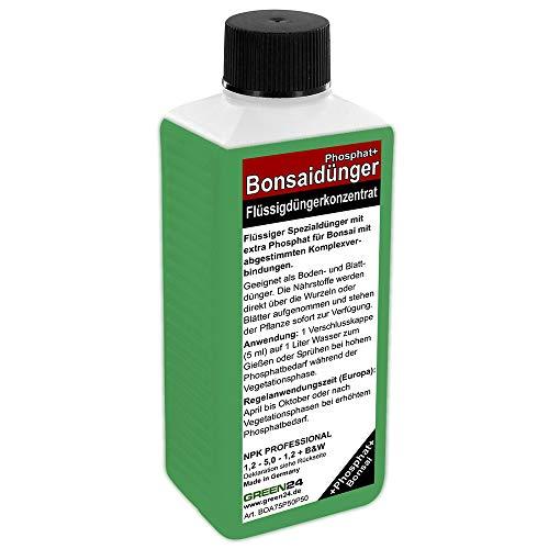 GREEN24 Bonsai-Dünger NPK Phosphat HIGHTECH Dünger zum düngen von Bonsai Pflanzen Premium Flüssigdünger aus der Profi Linie